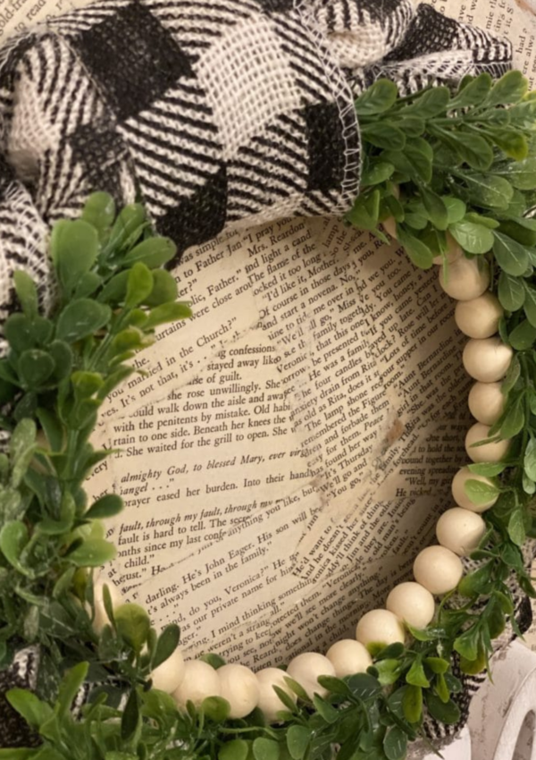 DIY Burlap and Bead Wreath